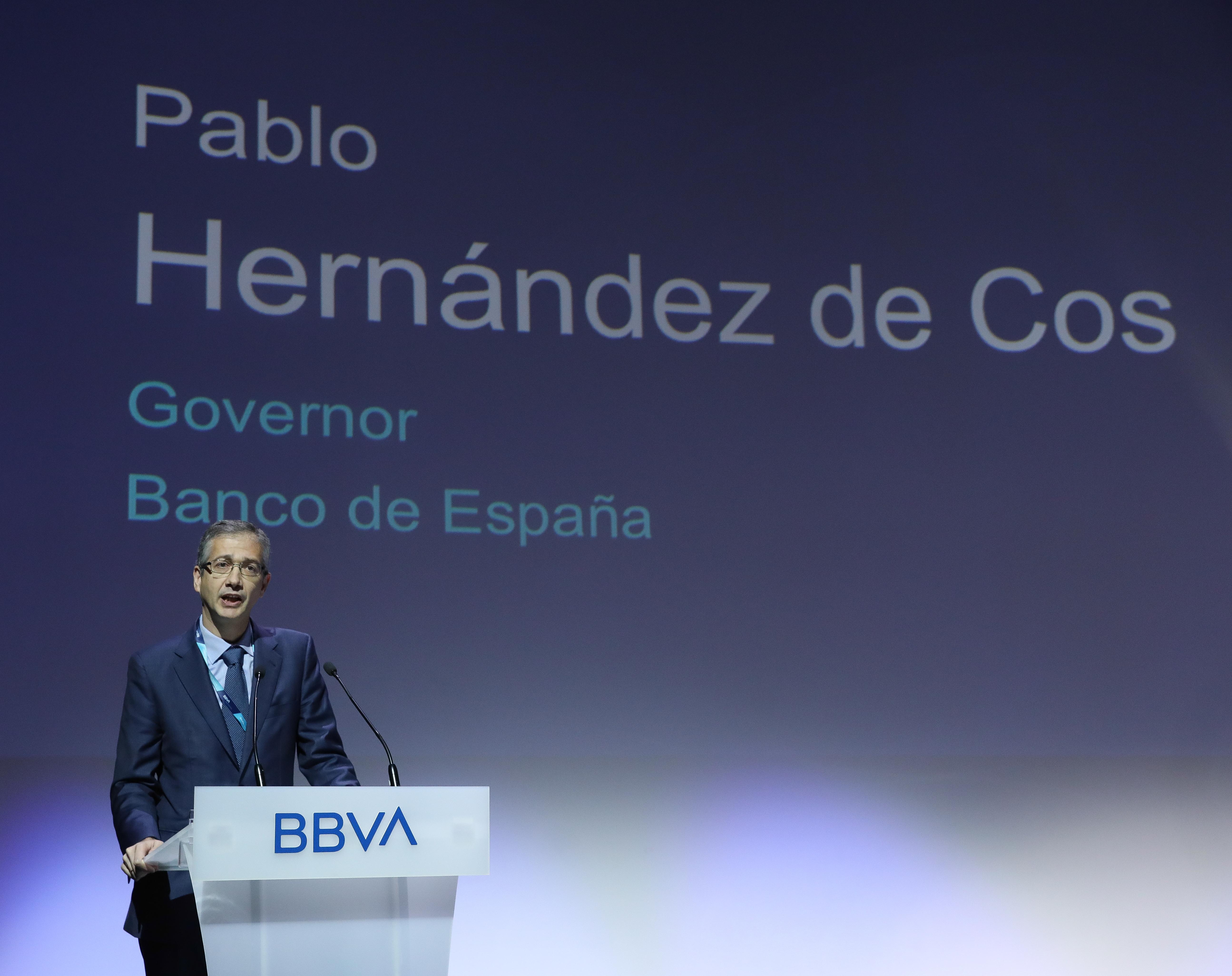 Intervención de Pablo Herández de Cos, gobernador del Banco de España
