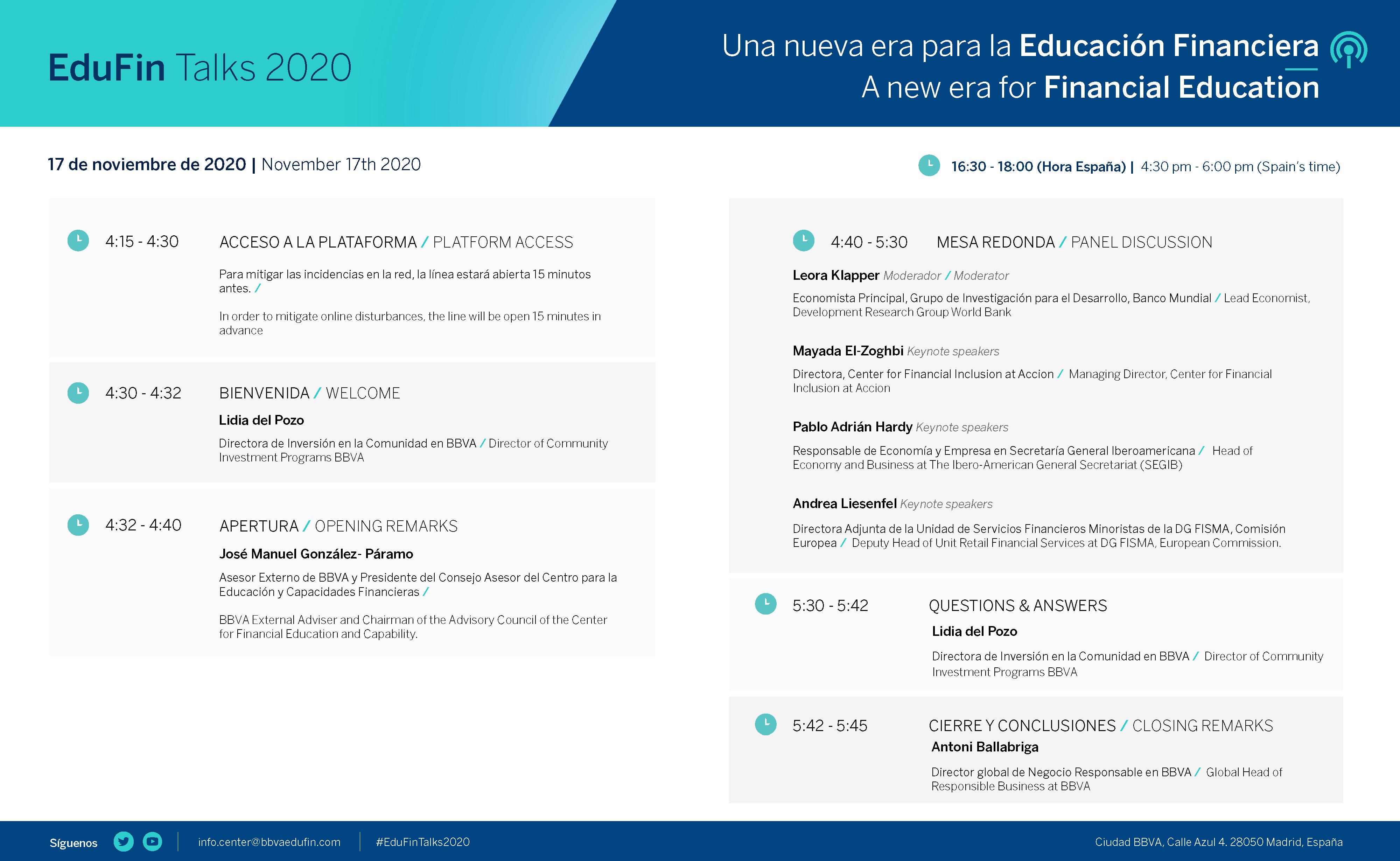 Programa EduFin Talks 2020